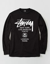 Stussy World Tour Long sleeve T-Shirt Brand New Authentic