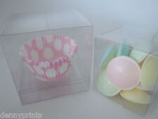 Luxury Clear PVC Cupcake, Sweets, Wedding Favours, Gift Boxes FREE INSERTS