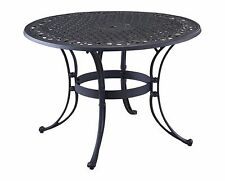 """Round Top Patio Table Outdoor Lawn Yard Deck Black Brown Metal Dining 42"""" or 48"""""""