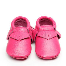 Real Leather Cute Baby Girls Toddler Infant Kids Tassel Moccasins Shoes 0-24M
