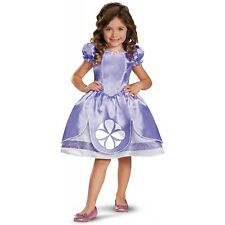 Sofia the First Costume Kids Toddler Disney Princess Halloween Fancy Dress