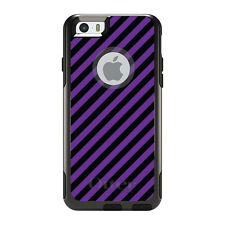 OtterBox Commuter for iPhone 5S SE 6 6S 7 Plus Black Purple Diagonal Stripes