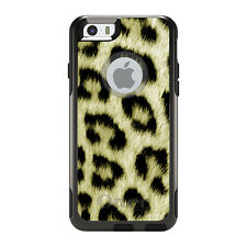 OtterBox Commuter for iPhone 5S SE 6 6S 7 Plus Yellow Black Leopard Fur Skin