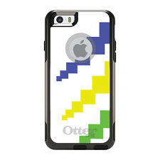 OtterBox Commuter for iPhone 5 5S SE 6 6S Plus White Blue Yellow Green Blocks