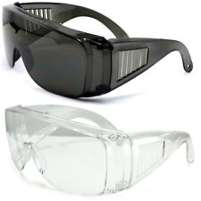 New Extra Large Fit Over Most Rx Glasses Sunglasses Super Safety Dark Lens