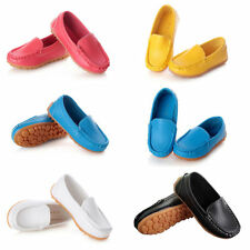 5 Colors Unisex Kids Soft Slip-on Moccasin Shoes Boy&Girl Faux Leather Sneakers