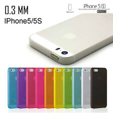 0.3mm Ultra Thin Slim Matte Soft Hard Back Case Cover Skin IM For iPhone 5 5s