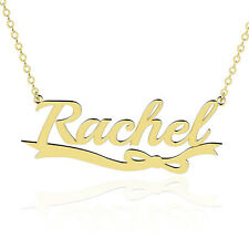 Handmade Name Necklace 18K Gold Plated Sterling Silver Any Personalized Jewelry