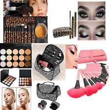 Makeup Brushes Set 12 Pcs Kit  24 brushes Concealer Makeup bag 3D Fiber Mascara