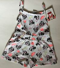 Girls White Shorts Playsuit with Disney Minnie Mouse detail