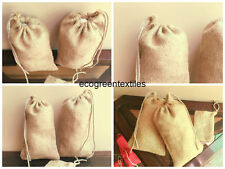 4x6 inch Organic Jute or Burlap Bags * EXCELLENT QUALITY* Quantity- 50 Free Ship