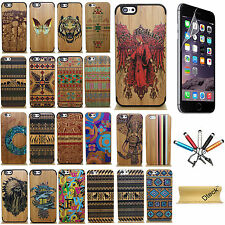 Real Natural Bamboo Wood Grain Pattern Hard Case Cover For Apple iPhone 6 4.7