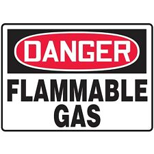 NS Signs Danger Flammable Gas OSHA Safety Sign