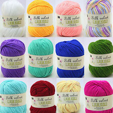 1 Ball 50g Soft Cashmere Silk Protein Baby Yarn Cotton Baby Wool Hand-knitted