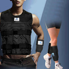 Adjustable Exercise Weighted Vest + Leg Ankle Hand Wrist Weights (Empty)