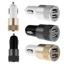 2 Ports Dual USB Car Charger Car Power Adapter Cigarette Lighter Converter Alloy