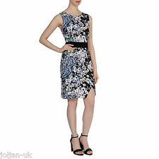 New Ladies Coast Devina Floral Print Scuba  Pencil Dress UK Size  6 -12  - Black