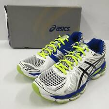 Asics Gel-Nimbus 15 White Lime Mens Running Shoes with discoloration T3B0N0190