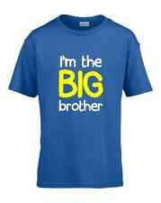I'M THE BIG BROTHER Boys T-Shirt 3-14 Years Blue Funny Joke Gift Present