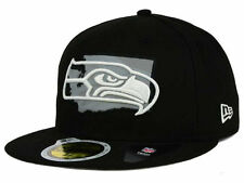 Official Seattle Seahawks NFL State Flective Redux New Era 59FIFTY Fitted Hat