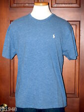 Polo Ralph Lauren Delta Blue T-Shirt White Polo Pony  M L XL XXL NWT
