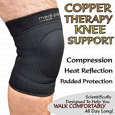 Copper Infused Knee Compression Support Sleeve Brace Sore Arthritis Joint  Pain