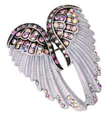 Angel wing brooch pin pendant women biker bling jewelry gifts for her mom BD03