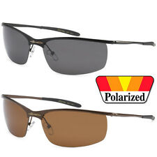 2 PAIR COMBO X-Loop Mens Polarized Thin Metal Sport Sunglasses Black Silver