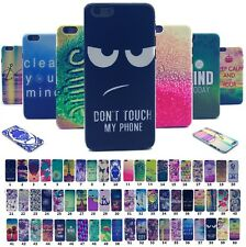 Colorful Cute Painted  Slim Hard PC Back Clear Skin Case Cover For All iPhone