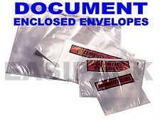 Document Enclosed Envelopes Wallets - A7, A6, A5, DL, A4 size MULTI LISTING
