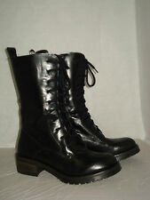 ANFIBIO donna 37-38-39-40-41 BOOTS NERO 100% VERA PELLE  MADE ITALY - ROCK NO.RI