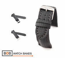 BOB Carbon Style Watch Band/Strap for Breitling, black, 18, 20, 22, 24 mm, new!