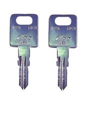 (2) FIC RV Metal Keys Cut to Codes CW401-CW434 MotorHome Travel Trailer Camper