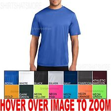 PL Mens Moisture WIcking Performance T-Shirt Gym Athletic S M L XL 2XL 3XL 4XL