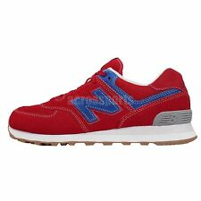 New Balance ML574WTR D Red Blue Suede Mens Retro Running Shoes ML574WTRD