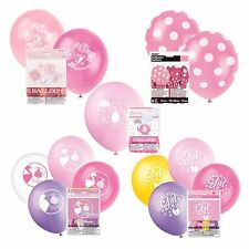 BABY SHOWER BALLOONS - Baby Shower Party Girl, Decorations Latex Helium/Air