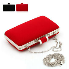 New Womens Ladies Clutch Bag Handbag Magnetic Snap Evening Shoulder Bag Purse