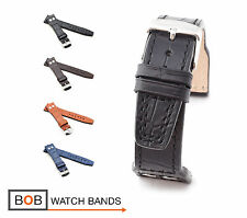 BOB Marino Alligator Watch Band/Strap for IWC, 20 & 22 mm, 4 colors, new!