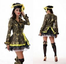 5PCS Sexy Women Adult Pirate Fancy Costume Halloween Deluxe Dress Cosplay Outfit