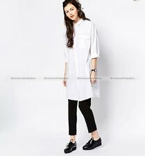 New Lady Boyfriend Oversized Shirt Dress Wild Loose Shirt Mini Sexy Dress 105156