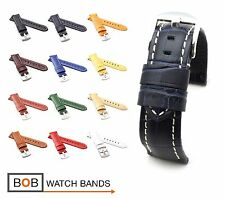 BOB Alligator Style Watch Band/Strap for Panerai, 22 mm, 12 colors, new!