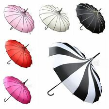 Umbrella Anti UV Sunscreen Rain&Sunny Windproof Strong Pagoda