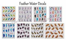 Feathers Water Decal Transfers Nail Art Decoration Stickers - Quills Craft Phone
