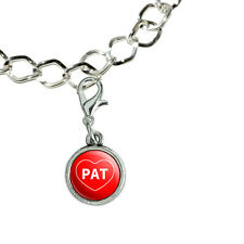 Silver Plated Bracelet with Antiqued Charm I Love Heart Names Male P