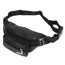 New Men Genuine Leather Sling Chest Hip Belt Fanny Pack Waist Bag Pouch Purse