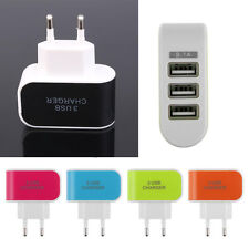 3.1A Triple USB Port Wall Travel  AC Charger Adapter For Samsung HTC EU Plug New