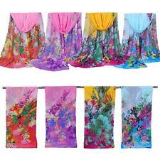 Multi-Color Women Long Print Chiffon Scarf Wrap Ladies Shawl Girl Large Scarves