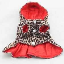 Small Pet Puppy Dogs Cats Clothes Costume Coat T-Shirt Hoodie Dress Leopard Coat