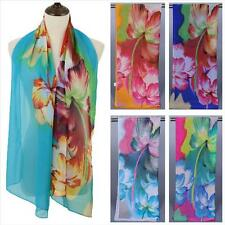 Womens Scarves Scarf Multi Flower Super Long Wraps Soft Beach Shawls P8NG