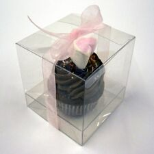 Clear Cupcake and Muffin Boxes wih Inserts - sizes 65mm,85mm, and 100mm Square.